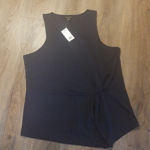 NWT Banana Republic Navy Sleeveless Blouse Sz. L